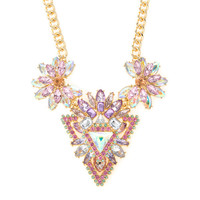 Katy Perry Pastel Crystal Statement Necklace