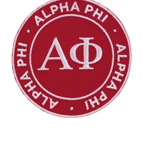 Toss Alpha Phi Peel and Stick Patch