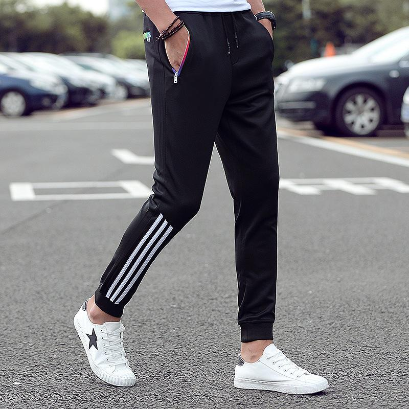 Image of Men Pants Striped Jogger Autumn Casual Mens Sweatpants Sportswear Long Trousers New Straight Pants Man Fitness Clothing