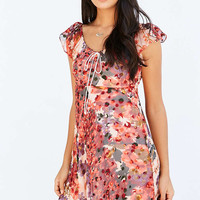 Kimchi Blue Shania Tie-Neck Mini Dress - Urban Outfitters