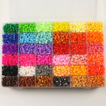 36 Color 5mm Hama Beads Perler Beads box set EVA Fuse beads for Children DIY Educational jigsaw puzzle Toys gifts 12000pcs