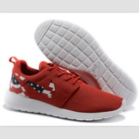 NIKE Roshe run fashion leisure network sports shoes Red