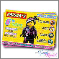 Wyldstyle Calling all Master Builders - Invitation Card Design For Birthday Party Kid