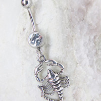 Antique Sliver Scorpion Belly Button Ring