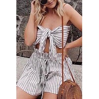 Take the Yacht Striped Short