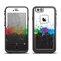 The Rainbow Paint Spatter Apple iPhone 6/6s LifeProof Fre Case Skin Set