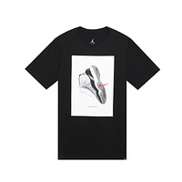 Air Jordan Men's Retro 11 XI Concord CNXN Black Tee