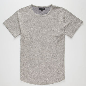 Elwood Reverse Terry Curved Hem Mens T-Shirt Gray  In Sizes