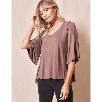 Bamboo Flare Top