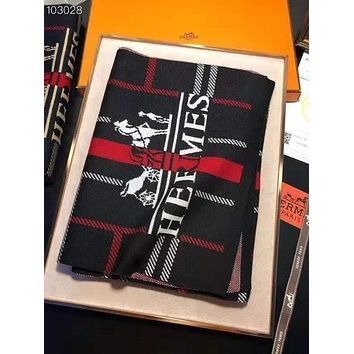 Hermes Fashion Men Women Easy To Match Scarf Scarves Accessories