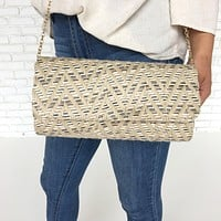 Bahamas Straw Clutch