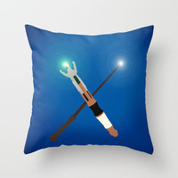 Doctor Who/Harry Potter. Throw Pillow by Dominic Tyler