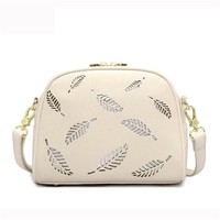 Women Elegant Feather Cute Hollow Out Shoulder Bags Crossbody Bags