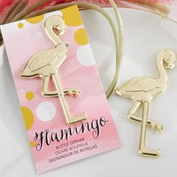 """Fancy and Feathered"" Flamingo Bottle Opener"
