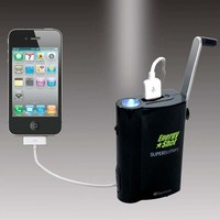 SuperBattery Cell Phone Battery with Crank Generator