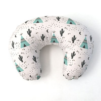Boppy Cover Mint Teepees Boppy. Nursing Pillow. Boppy Pillow Cover. Boppy Slipcover. Woodland Boppy Cover.