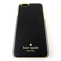 Kate Spade Wrap Case for Apple iPhone 6 & 6s Black Gold KSIPH-032-BLK-V
