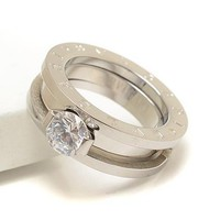 Bvlgari Woman Fashion Diamond Plated Ring For Best Gift