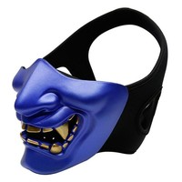 Tactical Airsoft Protective Half-Face Mask CS Game Paintball Mask Halloween Mask Attractive Masquerade Party Face Cover Prop