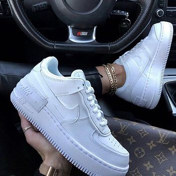 Nike WMNS Air Force 1 Shadow solid low-top casual running running shoes
