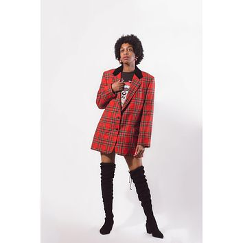 Vintage Plaid Union Made Coat
