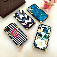 Square trunk style soft case for Iphone and Samsung phones