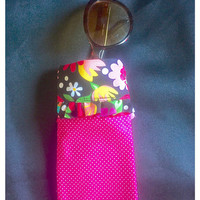 """Handmade Glasses Case with """"Snap Shut"""" Closure. Mother's Day Gift! Sunglasses/Eyeglasses/Cell Phone.custom Orders. Color Choice. Personaliza"""