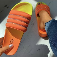 2020 new summer women's thick-soled outer wear fashionable non-slip flat slippers shoes