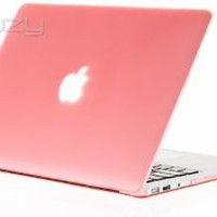 """Kuzy - AIR 13-inch PINK Rubberized Hard Case for MacBook Air 13.3"""" (A1466 & A1369) (NEWEST VERSION) Shell Cover - Pink"""