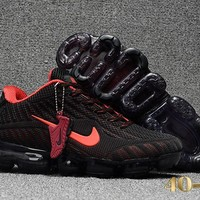DCCK N360 Nike Air Vapormax 2018 Flyknit Sports Casual Mid Running Shoes Black Red