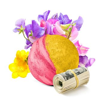 Sweet Pea Cash Bath Bomb