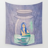trapped mermaid Wall Tapestry by Vita G