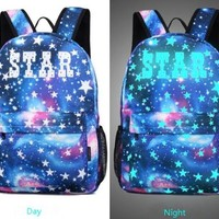 University College Backpack Reether Luminous School  Computer Bag Glow In Dark Bag Notebook   Student  Festival Party BagAT_63_4