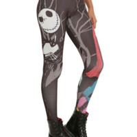 The Nightmare Before Christmas Jack And Sally Love Leggings