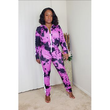 DOWN TO RIDE - Tie Dye Tracksuit
