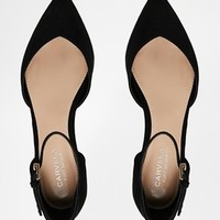 Carvela Marcus Ankle Strap Point Flat Shoes
