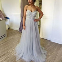 Sweetheart Straps Lovely Long Prom Dresses