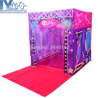 Free shipping Fashion AOLE-HW Super Star Stage House Tent for Kids Toy House with Mat Outdoor Child Tent Game House