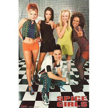 The Spice Girls Group Portrait 1997 Poster 23x35
