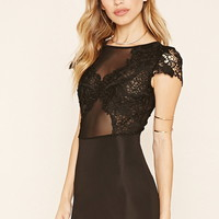 Lace Panel Sheath Dress
