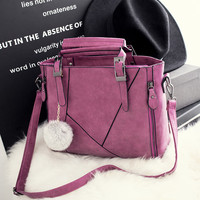 Rose Large Leather Chic Stylish Crossbody Handbag Shoulder Bag