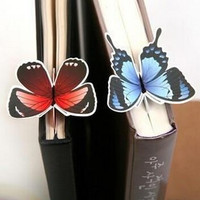 5 Piece classic Butterfly marcador de livro papelaria material escolar paper bookmarks for books markers holder school cute gift