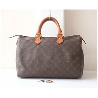 Louis Vuitton Speedy 35 monogram, tote bag, brown bag, vintage bags, Louis Vuitton Bag