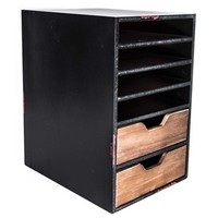 Black Paper Organizer with Compartments & Drawers   Shop Hobby Lobby