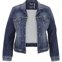 Plus Size - Silver Jeans ® Medium Wash Denim Jacket - Medium Sandblast