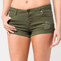 BOOM BOOM JEANS Button Front Womens Shorts | Shorts