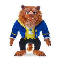 "Disney Store Beauty and the Beast 15"" Beast Medium Plush Toy New with Tags"