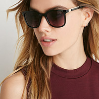 Metal-Accented Square Sunglasses