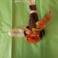 Scarecrow Hat/Headband- Perfect for the fall season