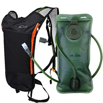 Baen Sendi Hydration Pack with 2L Backpack Water Bladder - Great for Outdoor Sports of Running Hiking Camping Cycling Skiing Black pack with bladder